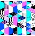 Memphis style background vector image vector image