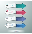 Modern paper arrow style options banner vector image vector image