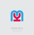 my initial logo ym initial monogram logotype m vector image vector image