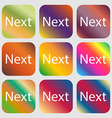 Next sign icon Navigation symbol Nine buttons vector image