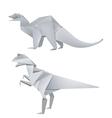 Origami dinosaurus vector image vector image