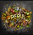 peru hand drawn cartoon doodles vector image