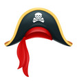 pirate hat corsair headgear vector image vector image