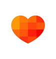 red heart icon with pixel pattern vector image