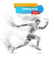 run winner man image consisting dots vector image