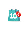sale tag badge template 10 off sale label vector image