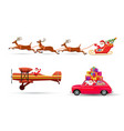 Santa Claus flying with vector image vector image