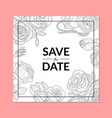 save the date invitation card template with hand vector image vector image