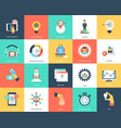 seo and marketing flat icons vector image vector image
