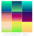 set of bright gradients for the background color vector image vector image