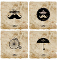 set of four vintage postcard vector image vector image
