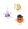 set of funny characters from basketball palette vector image vector image