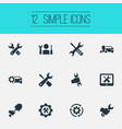 set of simple fixing icons vector image vector image