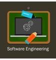 software engineering computer gear development vector image vector image