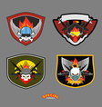 Special unit military logo set vector image vector image