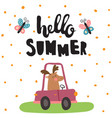 summer moose vector image