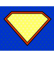 Super hero shield in pop art style vector image vector image