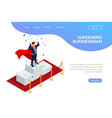 superhero businessman or manager concept with vector image vector image
