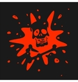 the symbol skull and blood vector image vector image