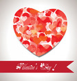 Valentine gift hearts card and banner vector image vector image