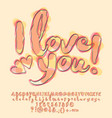 watercolor card i love you vector image