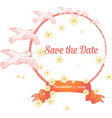 wedding cards floral wedding design elements vector image