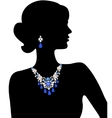 woman with jewelry vector image vector image