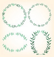 foliage border set vector image