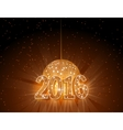 Number 2016 with disco ball vector image