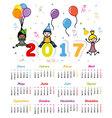 Spanish Calendar 2017 vector image