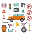 Auto transport service and car tools icons high vector image