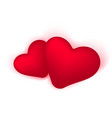two hearts realistic icon and symbols in vector image