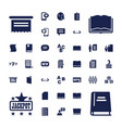 37 text icons vector image vector image