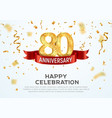 80 years anniversary banner template vector image vector image