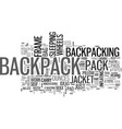 a backpack with wheels text word cloud concept vector image vector image