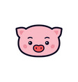 a pig icons for site character pork head vector image
