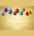 background with decorated easter eggs design of vector image vector image