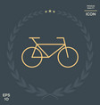 bicycle line icon vector image