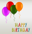 Birthday greeting colored card template vector image vector image