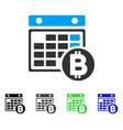 bitcoin calendar flat icon vector image vector image