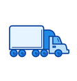 box truck line icon vector image vector image