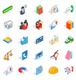 brigade icons set isometric style vector image vector image