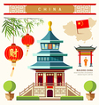 Buildings of China style collections vector image vector image