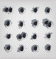 bullet holes in metal wall realistic vector image vector image