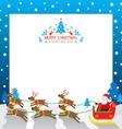 christmas Santa Reindeer Border vector image vector image