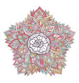 colorful mandala ornament for coloring book vector image vector image