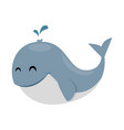cute little whale icon vector image