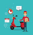 delivery service worker character vector image vector image