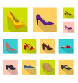design of footwear and woman logo vector image