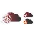 disintegrating pixel halftone create cloud icon vector image vector image